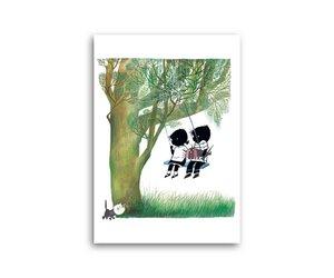 Schommel In Huis : Jip & janneke op de schommel enkele kaart fiep westendorp fiep