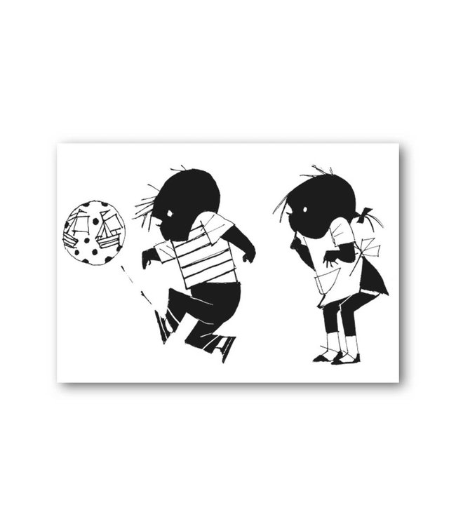 'Jip and Janneke with a bal' Single Card, Fiep Westendorp