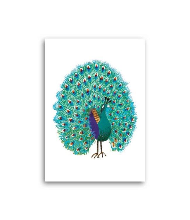 'Peacock' Folded Card, Fiep Westendorp