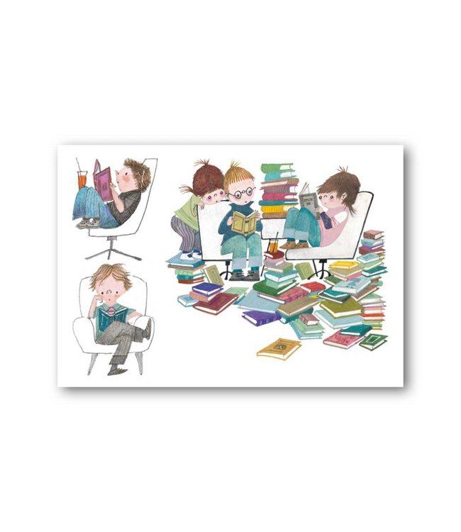 'Book Party' Single Card, Fiep Westendorp
