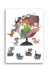 Bekking & Blitz 'Cat Party' Single Card, Fiep Westendorp