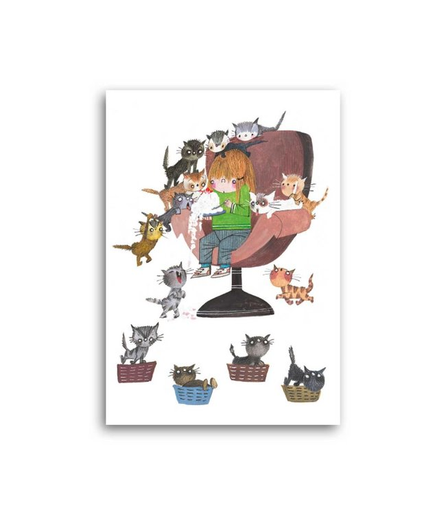 'Cat Party' Single Card, Fiep Westendorp
