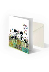 Bekking & Blitz 'Jip and Janneke in flower meadow' folded notecard, Fiep Westendorp