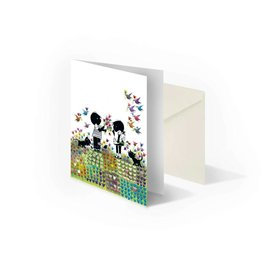Bekking & Blitz 'Jip and Janneke  in flower meadow' folded notecard