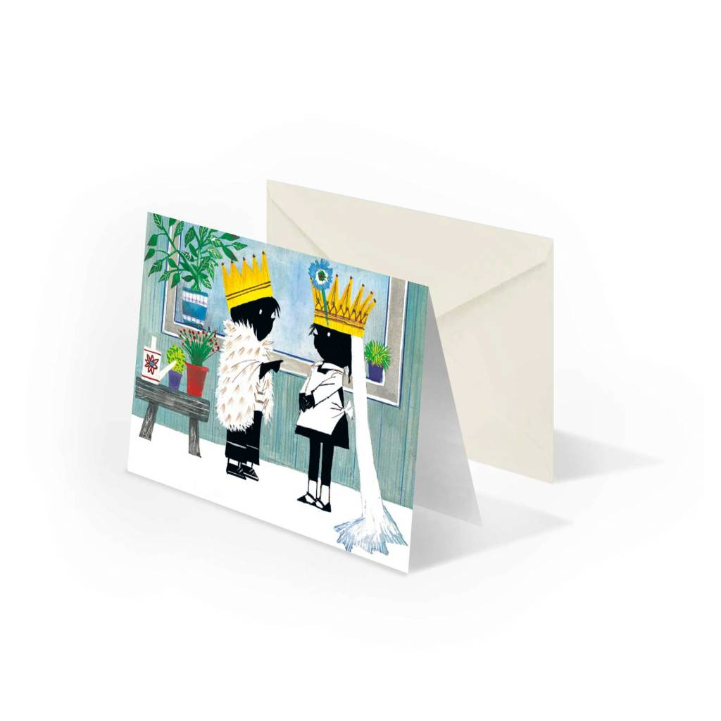 Bekking & Blitz 'Jip and Janneke as a bride and groom' folded notecard, Fiep Westendorp