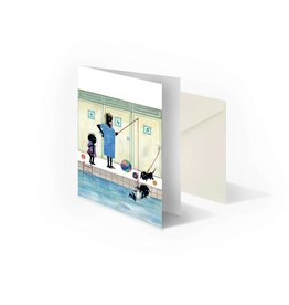 Bekking & Blitz 'Jip and Janneke are getting swimming lessons'  folded notecard