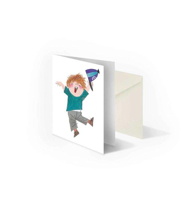 'Pluk is happy' folded notecard, Fiep Westendorp