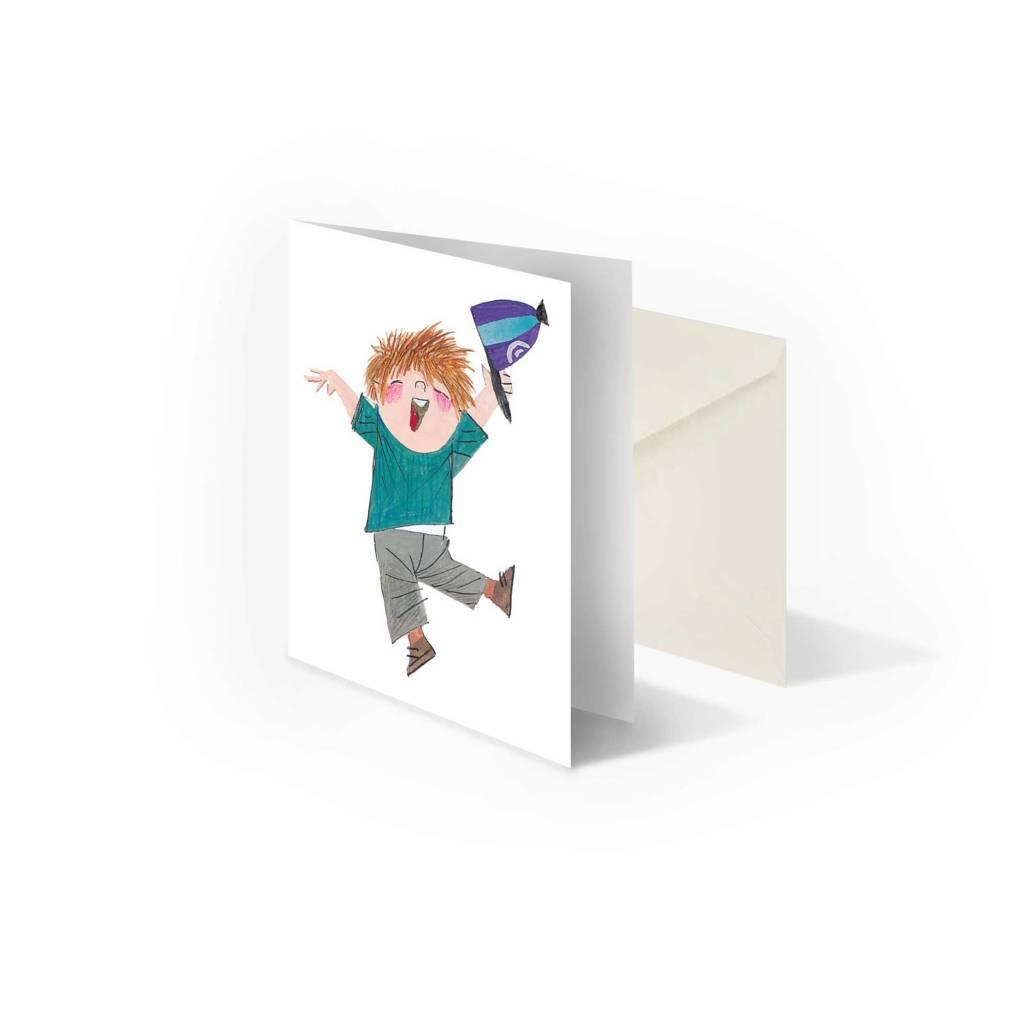 Bekking & Blitz 'Pluk is happy' folded notecard, Fiep Westendorp