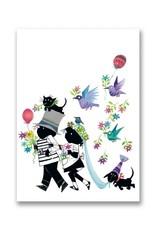 Bekking & Blitz 'Jip and Janneke as a wedding couple' folded notecard, Fiep Westendorp
