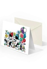 Bekking & Blitz 'Jip and Janneke with lanterns' folded notecard, Fiep Westendorp