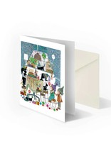 Bekking & Blitz 'Jip and Janneke with birthday cake' folded notecard, Fiep Westendorp