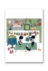 Bekking & Blitz  'Jip and Janneke with garlands' folded notecard, Fiep Westendorp