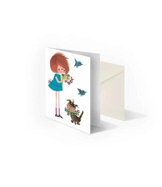 Bekking & Blitz 'Scrumple with flowers' folded notecard