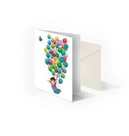 Bekking & Blitz 'Balloon flight' folded notecard