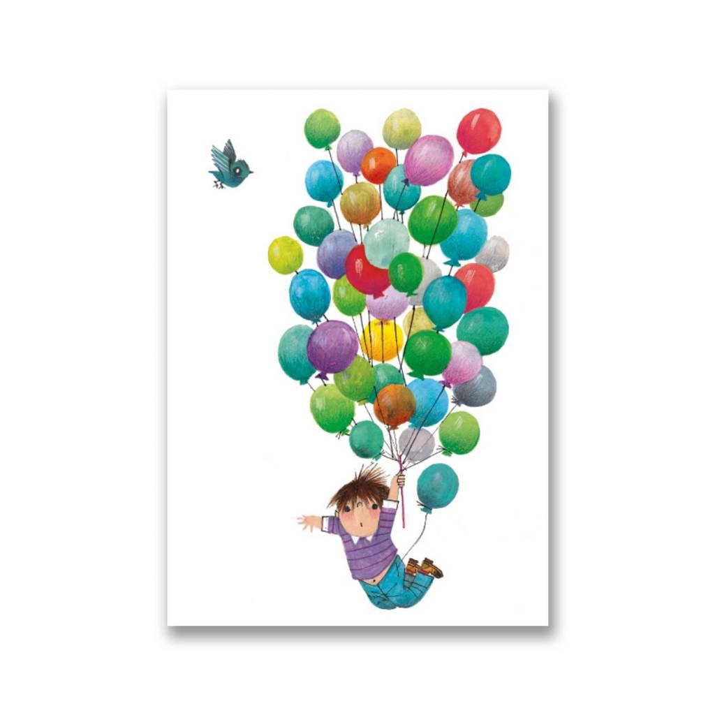 Bekking & Blitz 'Balloon flight' folded notecard, Fiep Westendorp