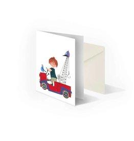 Bekking & Blitz 'Pluk in Tow-Truck' folded notecard