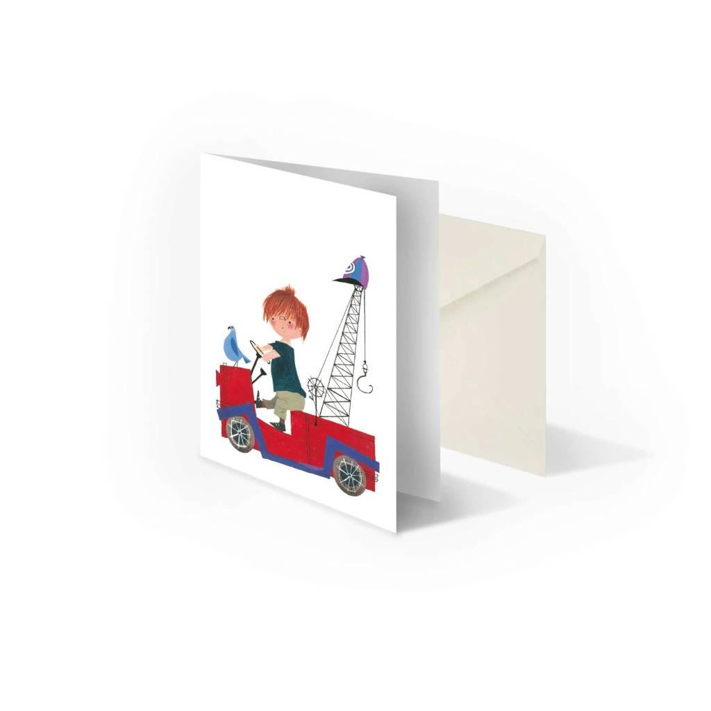 Bekking & Blitz 'Pluk in Tow-Truck' folded notecard, Fiep Westendorp