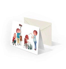 Bekking & Blitz 'Musicians' double postcard