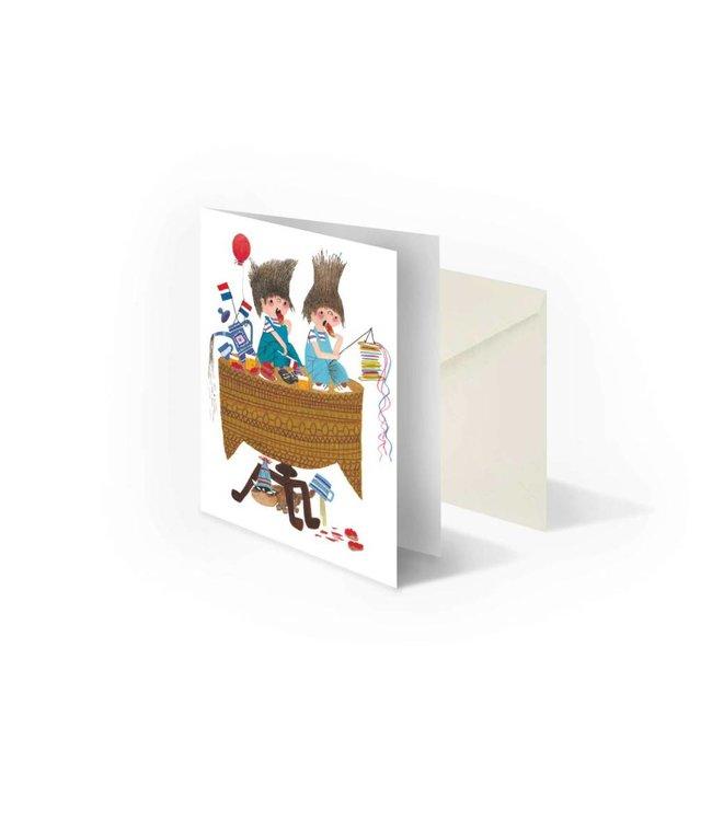 'Celebrate' folded notecard, Fiep Westendorp