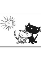 Bekking & Blitz 'Pim and Pom in the sun' double postcard, Fiep Westendorp