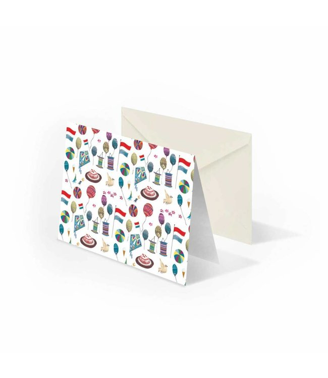'Party' folded notecard, Fiep Westendorp