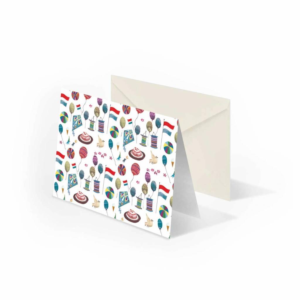 Bekking & Blitz 'Party' folded notecard, Fiep Westendorp