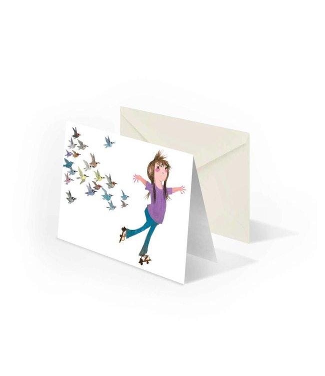 Bekking & Blitz 'Otje on roller skates' double postcard