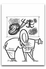 Bekking & Blitz 'People in museum' folded postcard, Fiep Westendorp , Fiep Westendorp