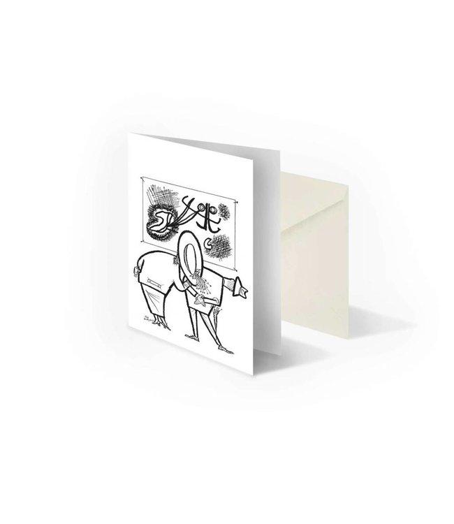 Bekking & Blitz 'People in museum' folded postcard, Fiep Westendorp