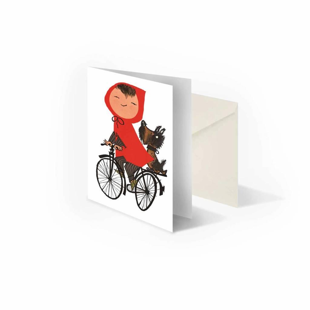 Bekking & Blitz 'Girl riding a bike'  folded notecard, Fiep Westendorp