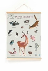 Little & Pure Educational Poster 'Forest Animals' - Fiep Westendorp