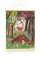 Little & Pure Fiep Westendorp Schoolplaat 'Dieren in het bos'