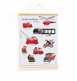 Little & Pure Fiep Westendorp Schoolplaat 'In het verkeer'