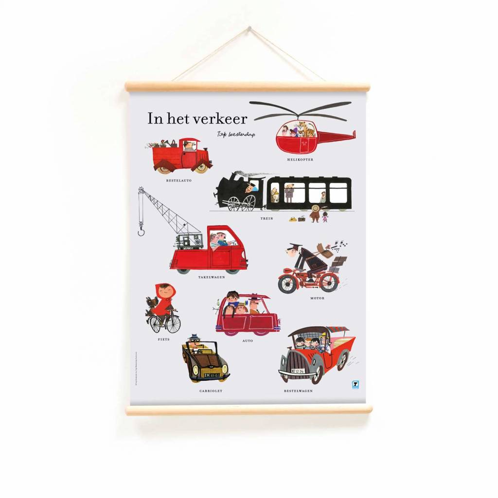 Little & Pure Educational Poster 'Traffic' - Fiep Westendorp