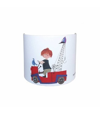Designed4Kids Wall Lamp 'The Red Tow Truck'