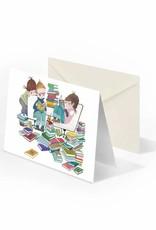Bekking & Blitz 'Boekenfeest' dubbele wenskaart, Fiep Westendorp