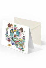 Bekking & Blitz 'Book Party' folded notecard, Fiep Westendorp