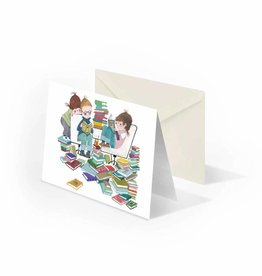 Bekking & Blitz 'Book Party' folded notecard