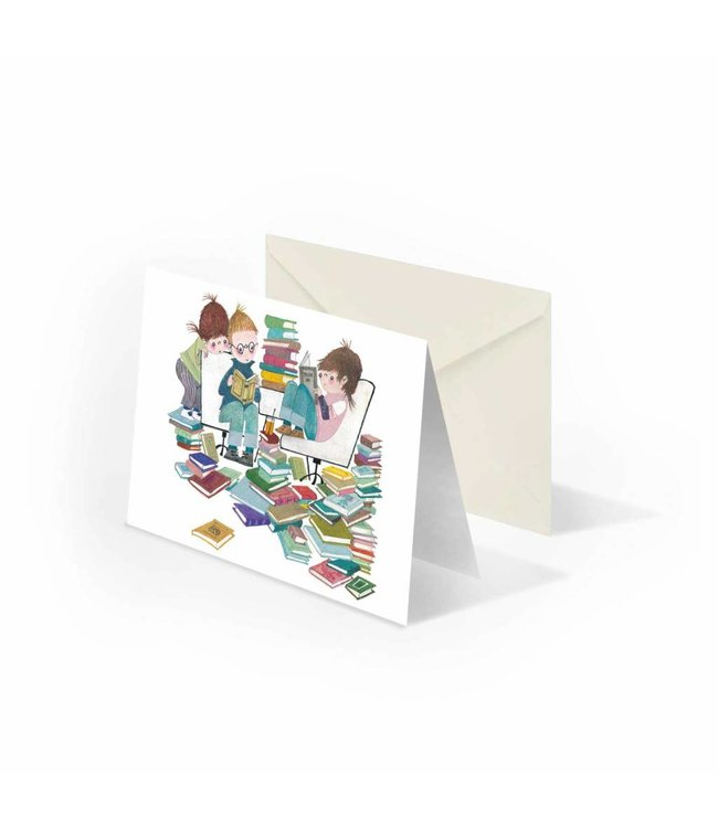 'Book Party' folded notecard, Fiep Westendorp