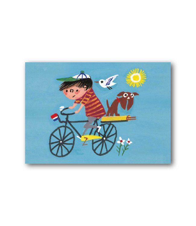 'Boy on a bike' Single Card