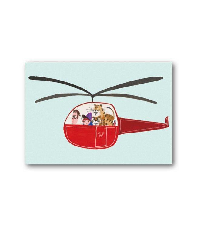 'Pluk in een helikopter' Enkele kaart