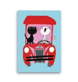 Bekking & Blitz 'Pim and Pom driving a Car' Single Card