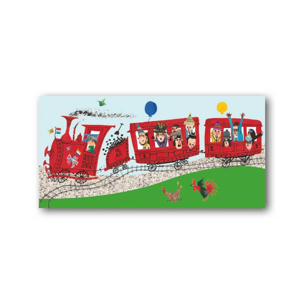 Bekking & Blitz 'Fiep in het verkeer - trein' XXL Kaart
