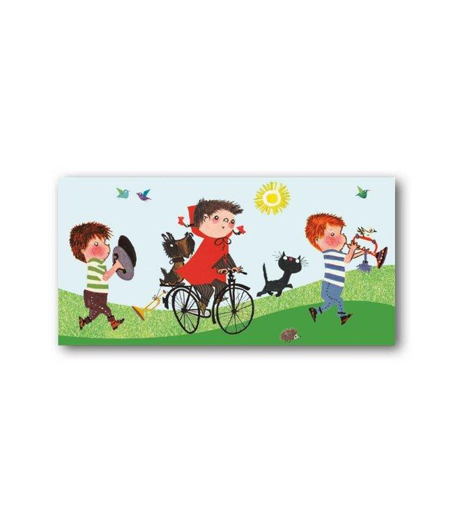 Bekking & Blitz 'Girl riding a bike'  XXL Card
