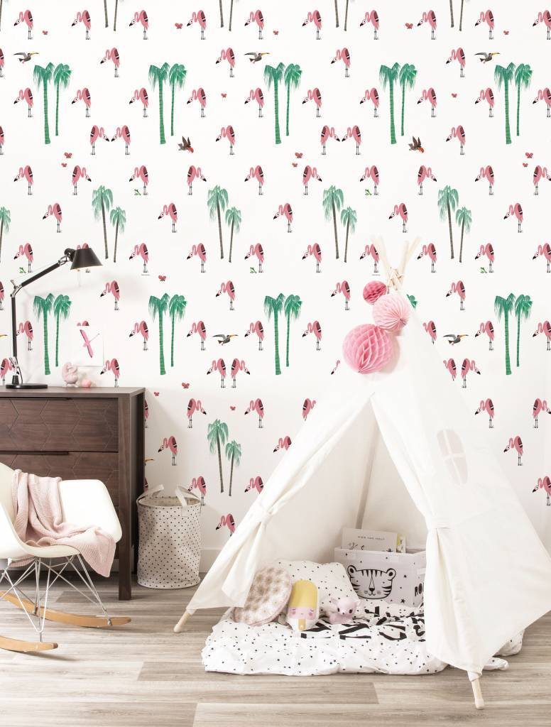 Kek Amsterdam Patroonbehang Flamingo - Fiep Westendorp