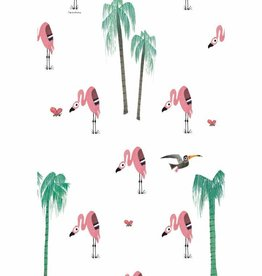 Kek Amsterdam Flamingo Wallpaper - Fiep Westendorp