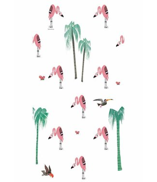 Kek Amsterdam Fiep Westendorp Wallpaper Flamingo