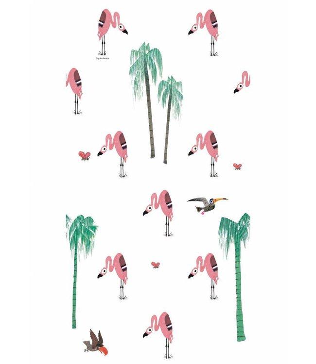 Kek Amsterdam Fiep Westendorp Behang 'Flamingo'