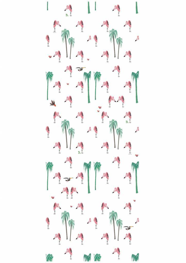 Kek Amsterdam Flamingo Wallpaper - Fiep Westendorp