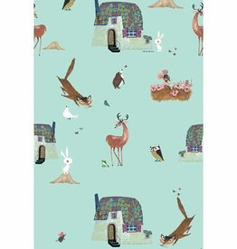 Kek Amsterdam Wallpaper Forest Animals, mint